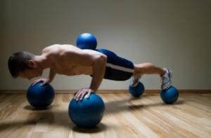 Push up on balls